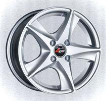 Колесный диск 4go JJ525 6x14/4x98 D58.6 ET35 серебристый