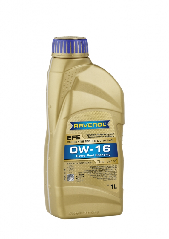 Моторное масло RAVENOL Extra Fuel Economy EFE, 0W-16, 1 л, 4014835802681