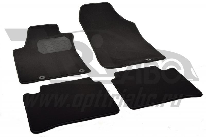 Коврики салона текстильные Nissan Teana (2014) (Велюр. полиамид) (подпятник п/у)(черные), NPA00VTE61