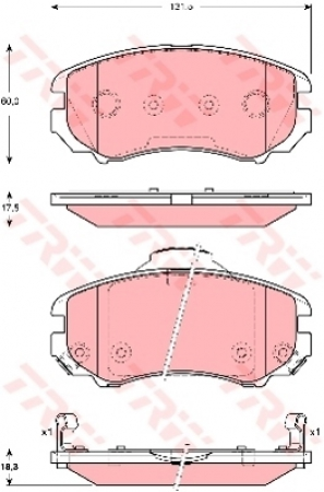 Колодки дисковые Передние, TRW, GDB3386