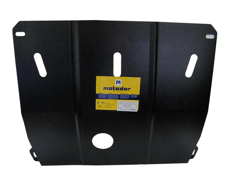 Защита картера двигателя, КПП Opel Astra F 1991-1998 V= все (сталь 2 мм), MOTODOR01502