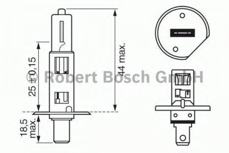 Лампа Trucklight, 24 В, 70 Вт, H1, P14,5s, BOSCH, 1 987 302 411