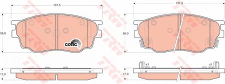 Колодки дисковые Передние, TRW, GDB3309