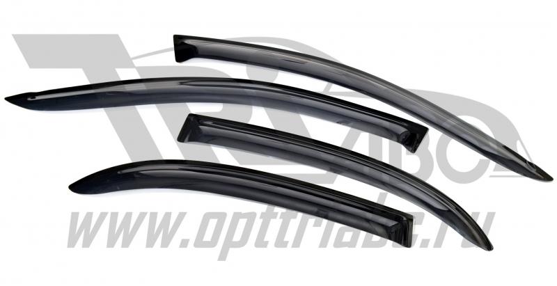 Дефлекторы боковых окон Chevrolet Lacetti (Шевроле Лачети) Хэтчбек (2004-) (темный) 4дв, SCHLACH0432