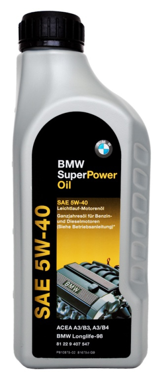 Моторное масло BMW Super Power, 5W-40, 1л, 81 22 9 407 547