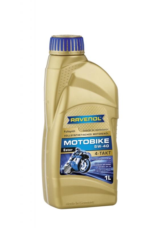 Моторное масло RAVENOL Motobike 4-T Ester, 5W-40, 1л, 4014835730717