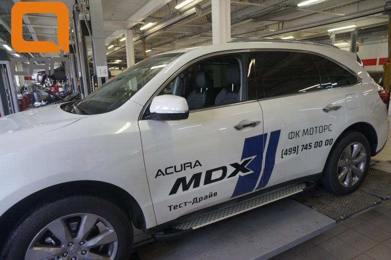 Пороги алюминиевые (Sapphire Silver) Acura MDX (2014-), ACMD512502