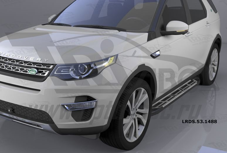 Пороги алюминиевые (Corund Silver) Land Rover Discovery Sport (2015-), LRDS531488