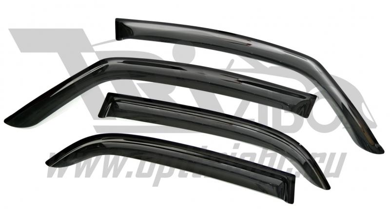 Дефлекторы боковых окон Suzuki SX4 Хэтчбек (4дв.) (2006-) (4шт.) (темн), SSUSX4H0632