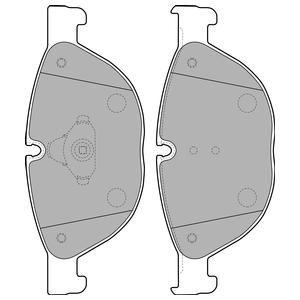 Колодки дисковые, DELPHI, LP2189