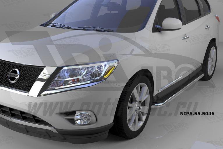 Пороги алюминиевые (Ring) Nissan Pathfinder (2014-), NIPA555046