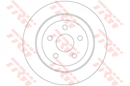 Диск тормозной задний, TRW, DF6282