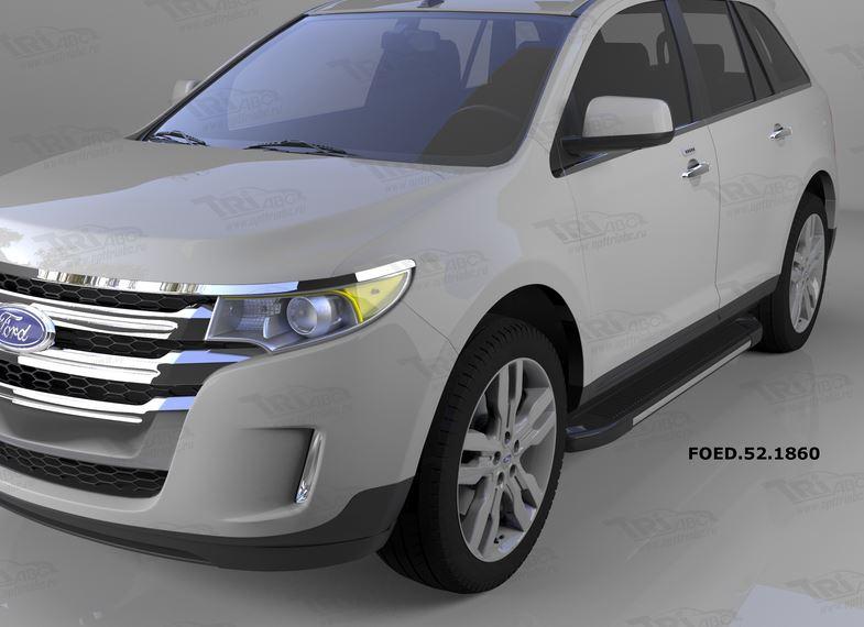 Пороги алюминиевые (Onyx) Ford Edge (2014-), FOED521860