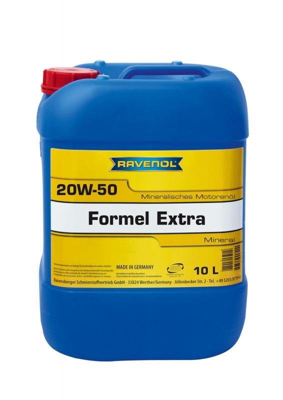 Моторное масло RAVENOL FORMEL EXTRA, 20W-50, 10 л, 4014835724846