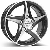 Колесный диск Enzo 109 dark 7x16/4x108 D72.6 ET25 черный полированный (BKF/P)
