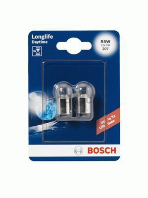 Лампа Long-life Daytime, 12 В, 5 Вт, R5W, BA15s, BOSCH, 1 987 301 058