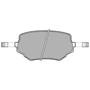 Колодки дисковые, DELPHI, LP1015