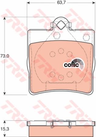 Колодки дисковые Задние, TRW, GDB1335