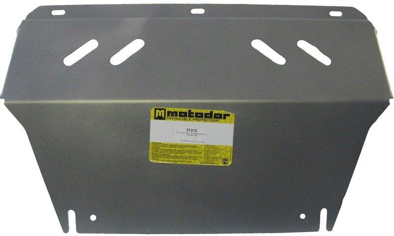 Защита картера двигателя, ПДФ, радиатора Mitsubishi L200 2006-2013 V= все (алюминий 5 мм), MOTODOR31