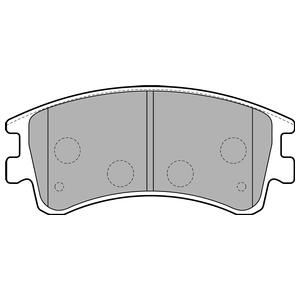 Колодки дисковые, DELPHI, LP1799