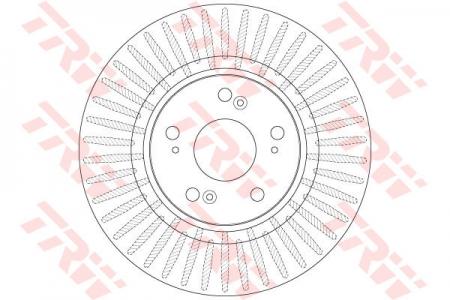 Диск тормозной передний, TRW, DF6432S