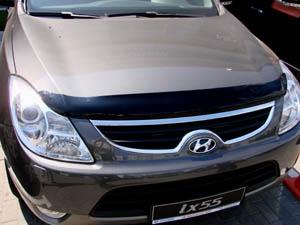 Дефлектор капота Hyundai Ix55 (2008-) (темный), SHYIX550812
