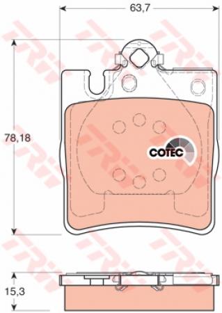Колодки дисковые Задние, TRW, GDB1334