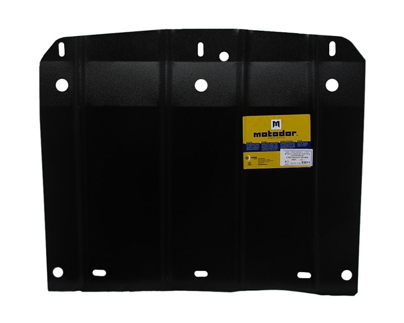 Защита картера двигателя, КПП Chevrolet Spark 2005-2009 V=1,0, 1,2 (сталь 2 мм), MOTODOR03011