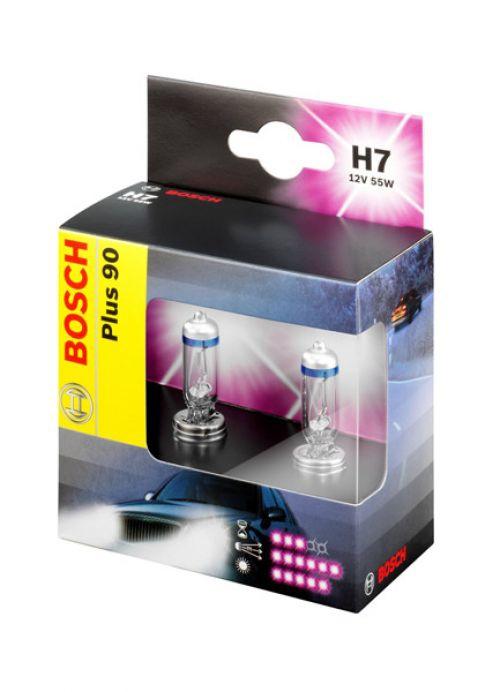 Лампа Plus 90, 12 В, 55 Вт, H7, PX26d, BOSCH, 1 987 301 075