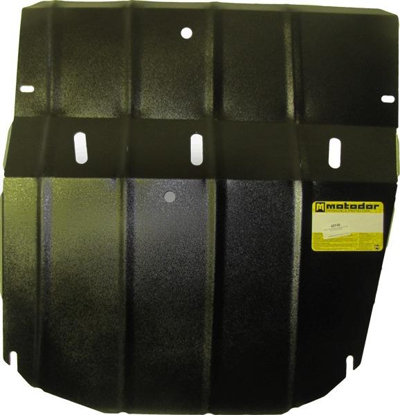Защита картера двигателя, КПП Ford Transit 2002- V=2,2D, 2,4D (сталь 2 мм), MOTODOR00748