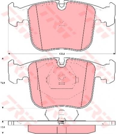 Колодки дисковые Передние, TRW, GDB1118
