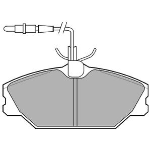 Колодки дисковые, DELPHI, LP788