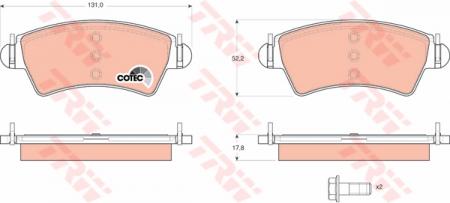 Колодки дисковые Передние, TRW, GDB1501