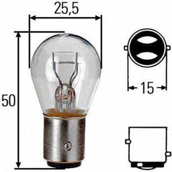 Лампа, 12 В, 21/5 Вт, P21/5W, BAY15d, HELLA, 8GD 002 078-121