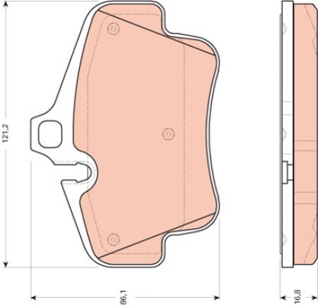 Колодки дисковые Задние, TRW, GDB1758