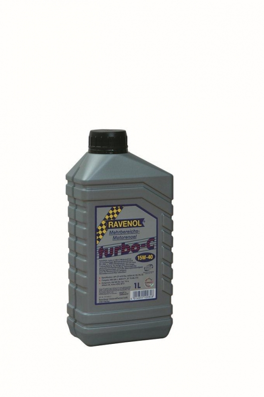 Моторное масло RAVENOL, Turbo-C HD-C, 15W-40, 1 л, 4014835100848
