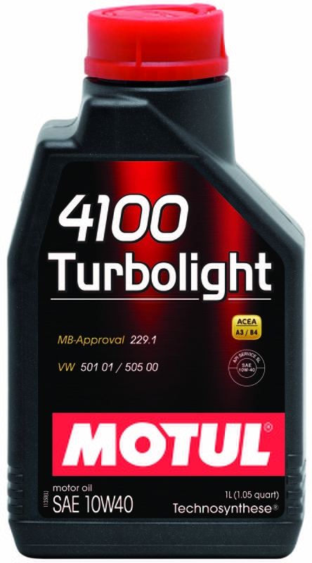 Моторное масло MOTUL 4100 TURBOLIGHT, 10W-40, 1 л, 102774