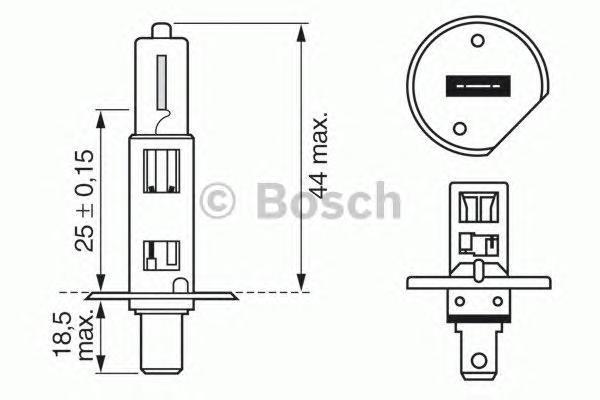 Лампа Plus 50/60, 12 В, 55 Вт, H1, P14,5s, BOSCH, 1 987 302 019