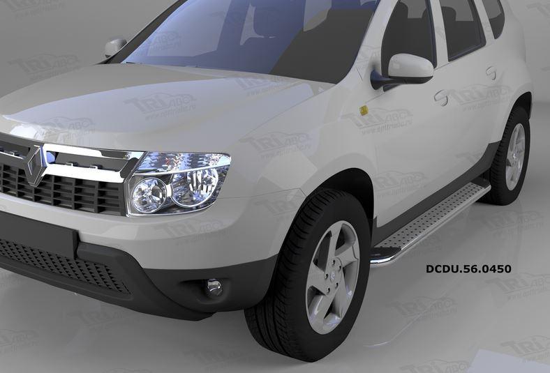 Пороги алюминиевые (Opal) Renault Duster (Рено Дастер) (2012-) / Nissan Terrano (2014-), DCDU560450