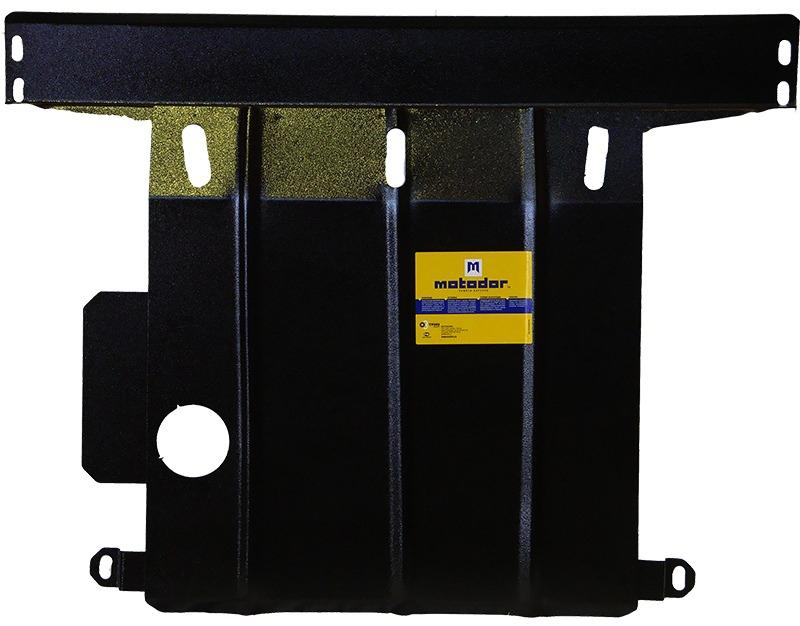 Защита картера двигателя, КПП Ford Escort 1995-2000 V= все (сталь 2 мм), MOTODOR00701