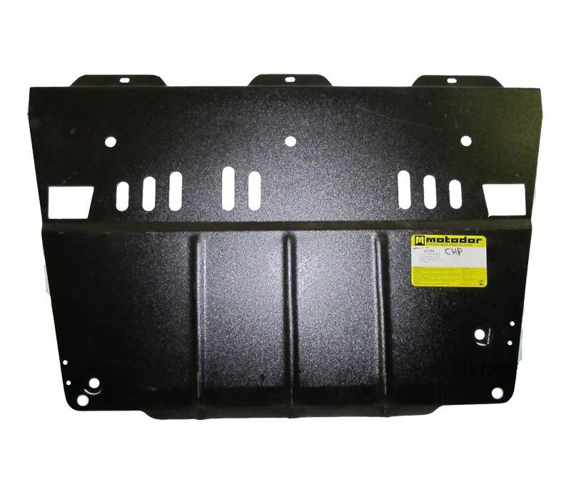 Защита картера двигателя, КПП Renault Latitude 2010- V=2,5i (сталь 2 мм), MOTODOR01724