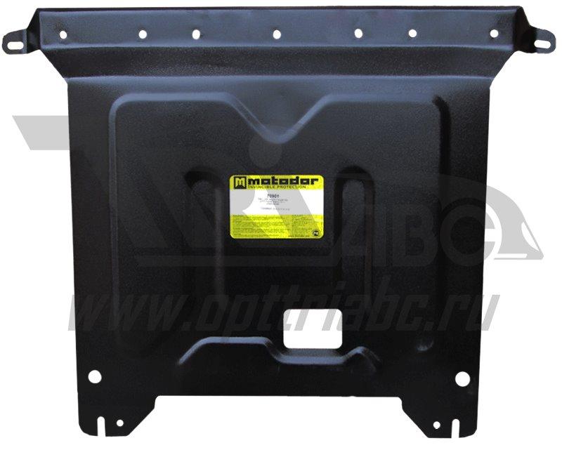 Защита картера двигателя, КПП Hyundai Solaris (Хёндай Соларис) V-1,4; 1,6 (2010-2014-) / Kia Rio (Ки