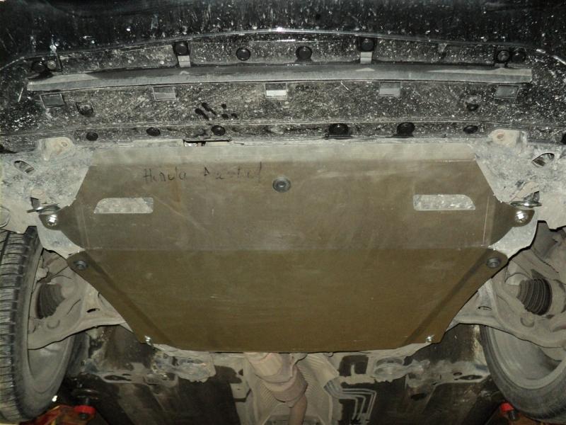 Защита картера двигателя и кпп Honda (Хонда) Accord V-2,0;2,4 (2007-02.2013) (Алюминий 4 мм), 0901AB