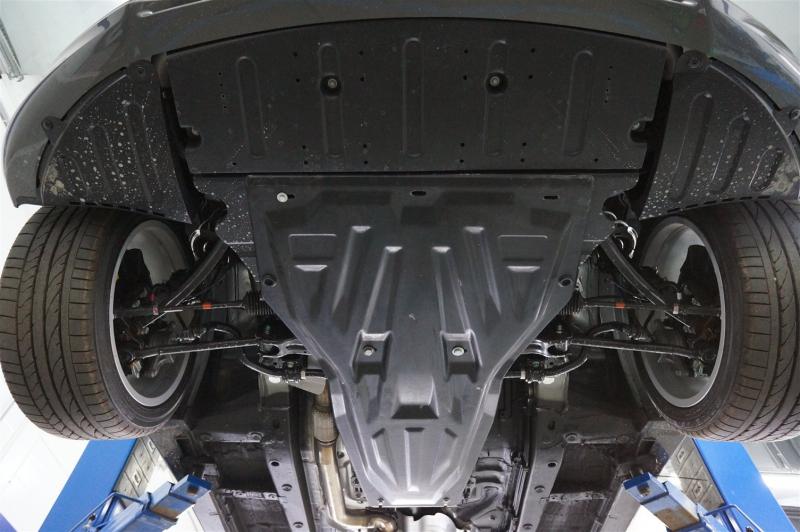 Защита картера двигателя и кпп Hyundai Genesis Coupe (V-все, 2012-2014) (Композит 6 мм), 1015K