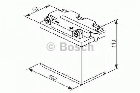 Аккумуляторная батарея Bosch Funstart FreshPack, 6 В, 6 А/ч, 30 А, 0092M4F070