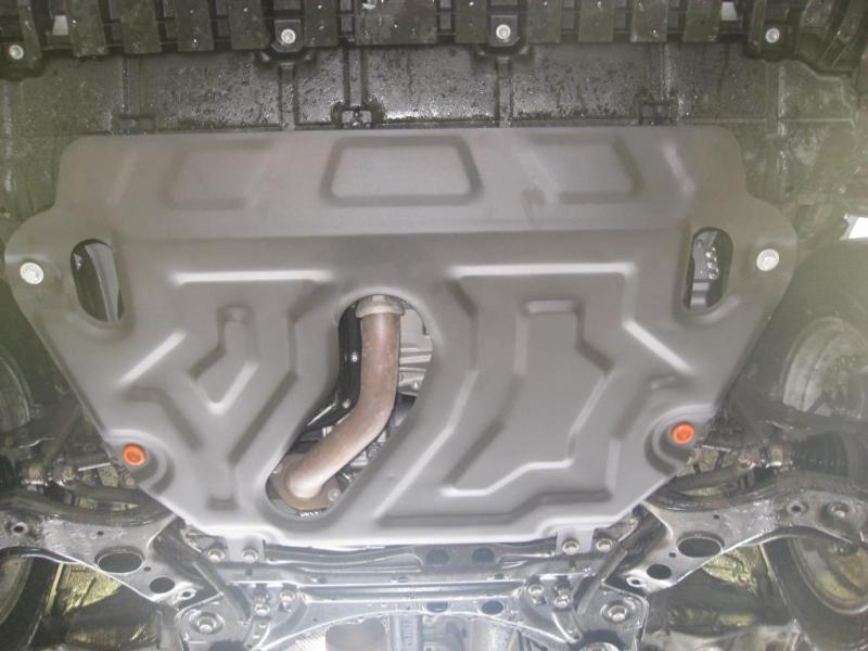 Защита картера двигателя и кпп Toyota Rav4 (V-2,5 2013-) (Сталь 2 мм), 09740C2