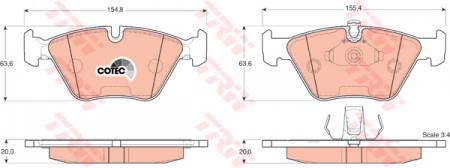 Колодки дисковые Передние, TRW, GDB1404