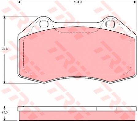 Колодки дисковые Передние, TRW, GDB1606