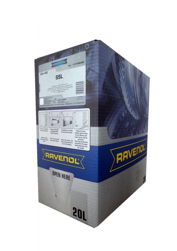 Моторное масло RAVENOL Super Synthetik Oel SSL, 0W-40, 20л, 4014835803534