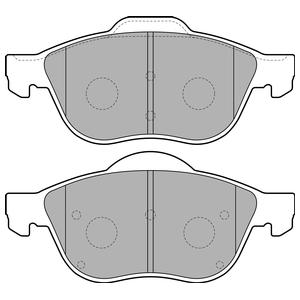 Колодки дисковые, DELPHI, LP1844